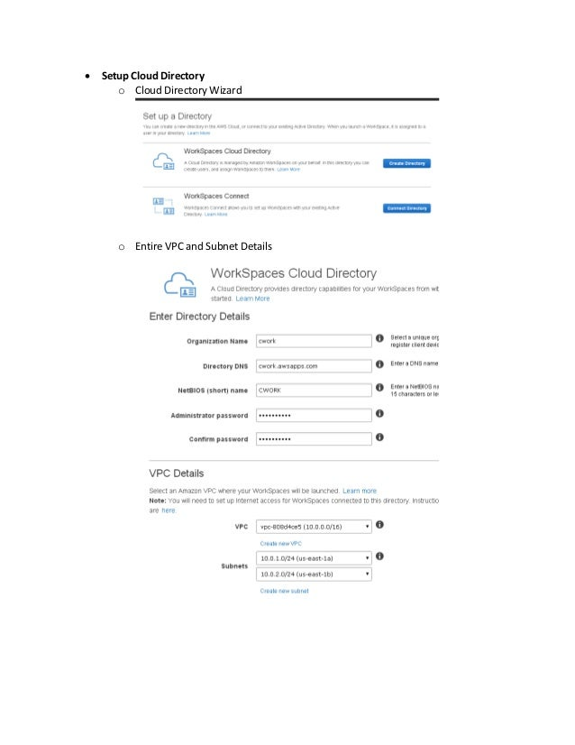 how to create workspace in aws