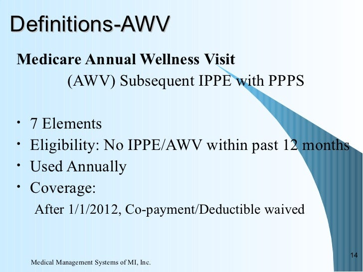 Sorting Through Medicare Annual Wellness Visits, the IPPE and Prevent…