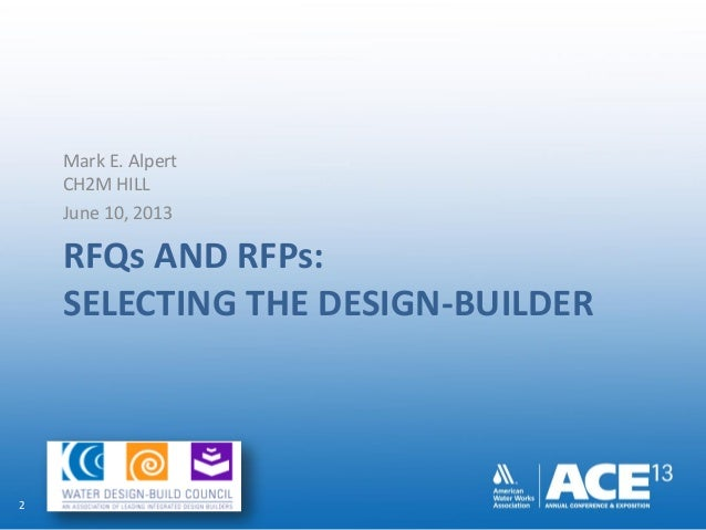 RFPs and RFQs: Selecting the Design-Builder