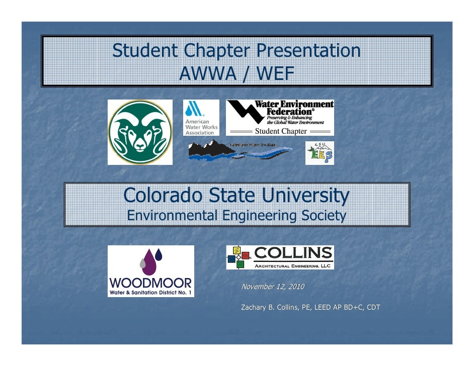 AWWA/WEF Student Chapter Presentation