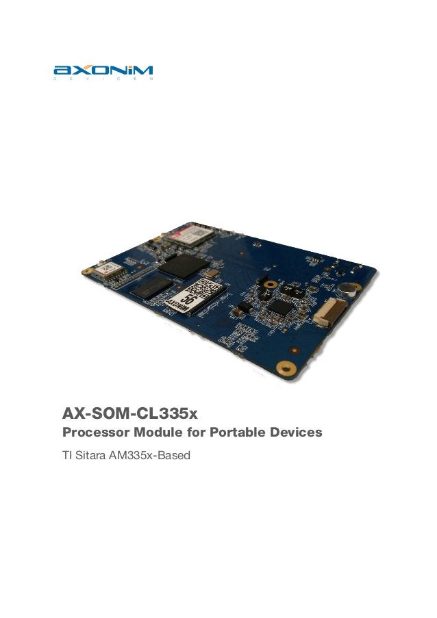 AX-SOM-CL335x Processor Module for Portable Devices TI Sitara AM335x-Based