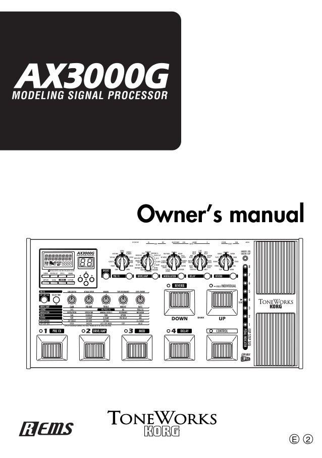 Ax3000g owner's manual korg.