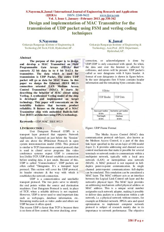 S.Nayeema,K.Jamal / International Journal of Engineering Research and Applications                  (IJERA)           ISSN...