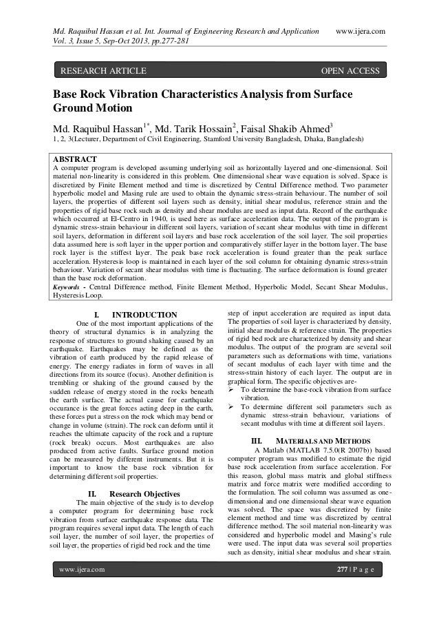 Md. Raquibul Hassan et al. Int. Journal of Engineering Research and Application www.ijera.com Vol. 3, Issue 5, Sep-Oct 201...