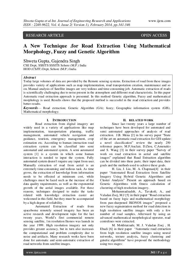Shweta Gupta et al Int. Journal of Engineering Research and Applications ISSN : 2248-9622, Vol. 4, Issue 2( Version 1), Fe...