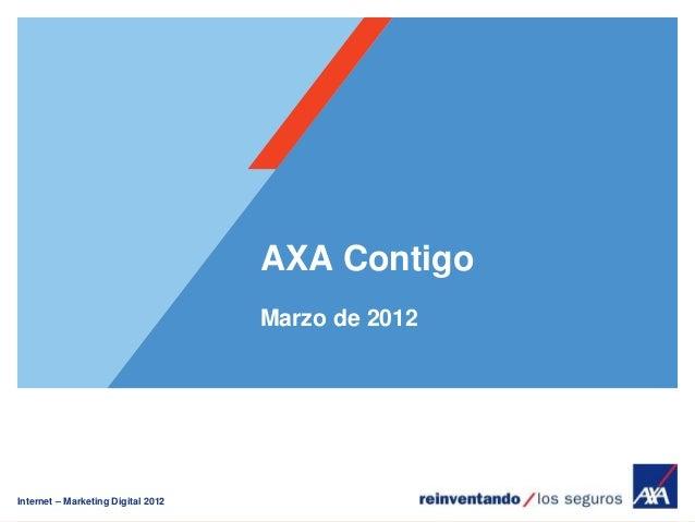Internet – Marketing Digital 2012 AXA Contigo Marzo de 2012
