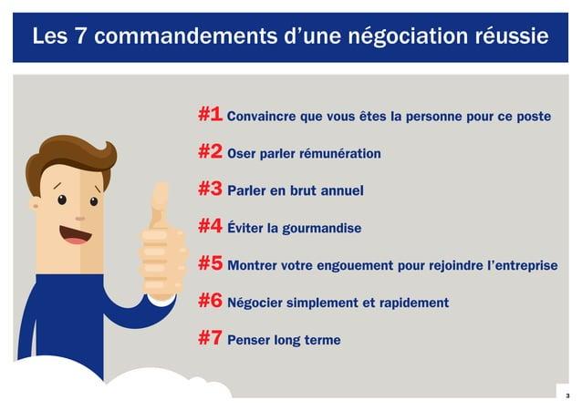 3 Les 7 commandements d'une négociation réussie #1 Convaincre que vous êtes la personne pour ce poste #2 Oser parler rémun...
