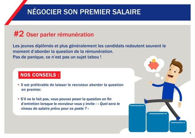 #2 Oser parler rémunération Les jeunes diplômés et plus généralement les candidats redoutent souvent le moment d'aborder l...