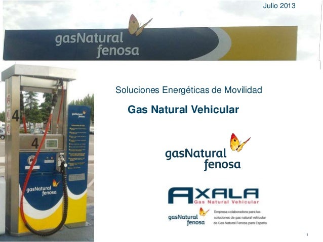 Gas Natural Vehicular 1 Soluciones Energéticas de Movilidad Julio 2013