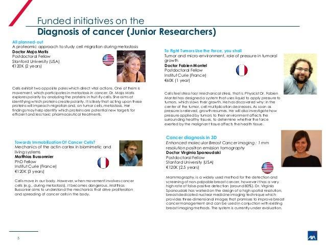 Axa rf grantees on cancer[1]