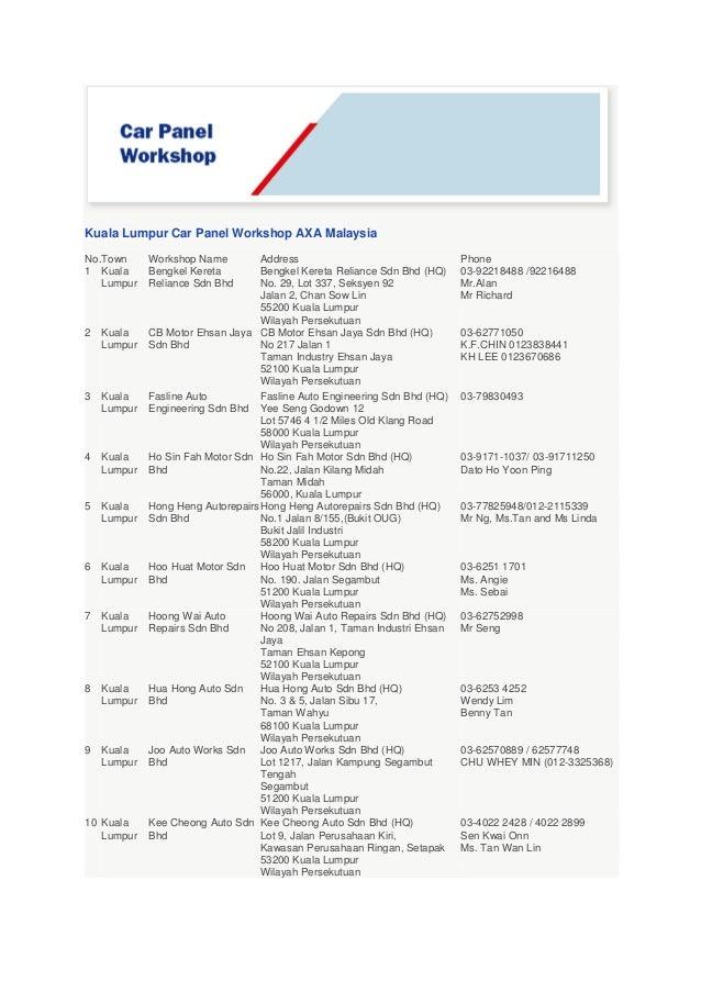 Axa Smart Drive Motor Insurance And Car Repairer Panel