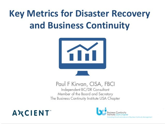 business continuity intending metrics