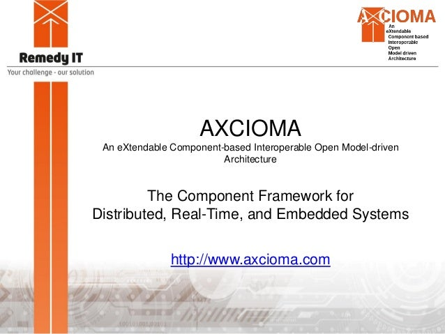 AXCIOMA An eXtendable Component-based Interoperable Open Model-driven Architecture The Component Framework for Distributed...