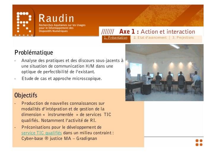 Action et Interaction - Séminaire préfecture & CR Slide 2