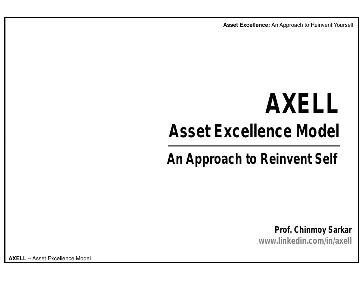 Asset Excellence: An Approach to Reinvent Yourself                                                               AXELL    ...