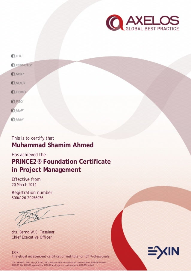 Prince2 2017 Certifications Project Management Axelos Mandegarfo