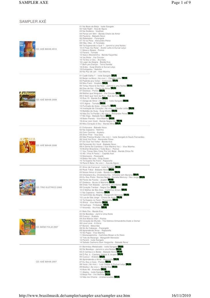 SAMPLER AXE                                                                                            Page 1 of 9SAMPLER ...