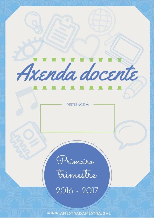 Axenda docente Primeiro trimestre 2016 - 2017 teett