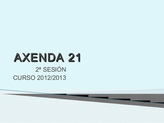 AXENDA 21AXENDA 212ª SESIÓNCURSO 2012/2013