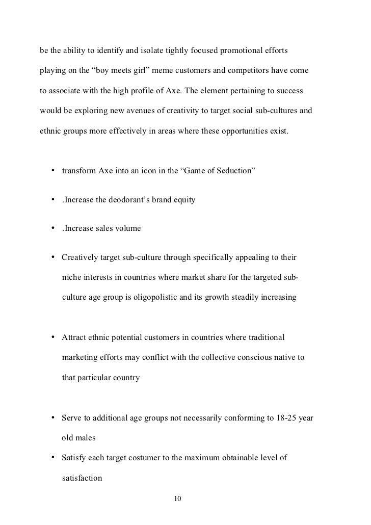Plan marketing Campaña Axe