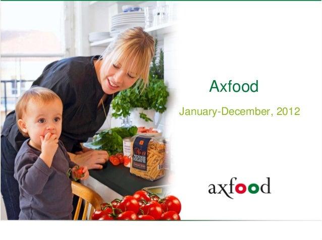 Axfood    January-December, 20121