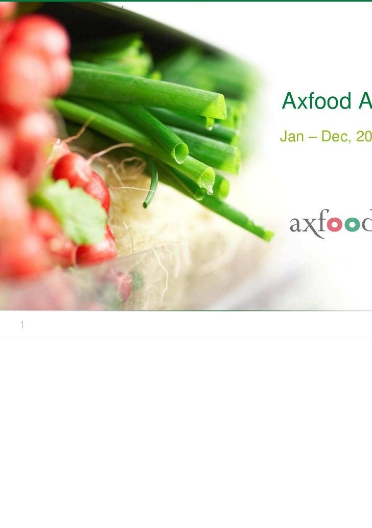 Axfood AB    Jan – Dec, 20101