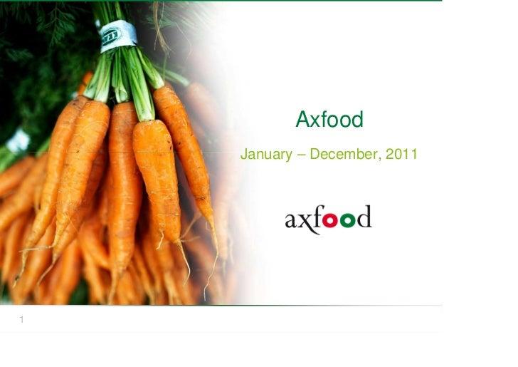 Axfood    January – December, 20111