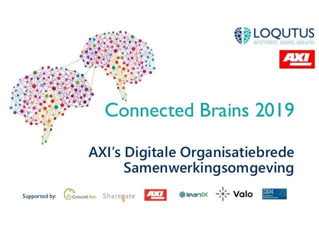 Supported by: Connected Brains 2019 AXI's Digitale Organisatiebrede Samenwerkingsomgeving