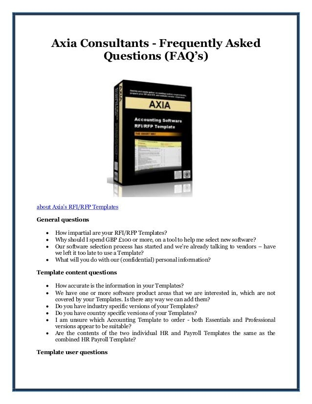 Axia consultants frequently asked questions faqs axia consultants frequently asked questions faqs about axias rfirfp templates general maxwellsz