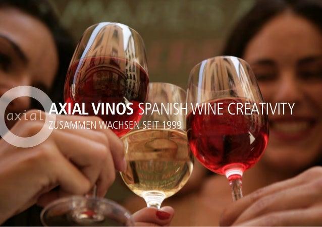 AXIAL VINOS SPANISHWINE CREATIVITY ZUSAMMEN WACHSEN SEIT 1999