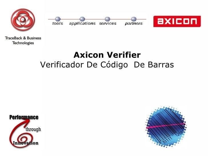 Axicon Verifier Verificador De  Código  De Barras