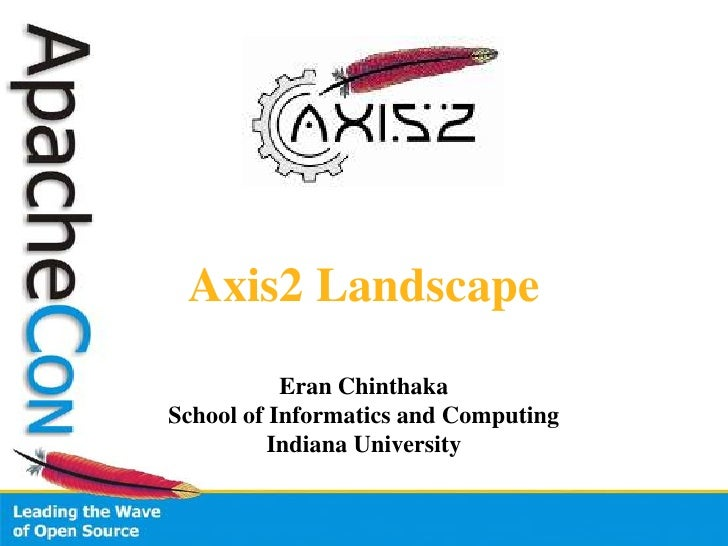 Axis2 Landscape<br />EranChinthaka<br />School of Informatics and Computing<br />Indiana University<br />