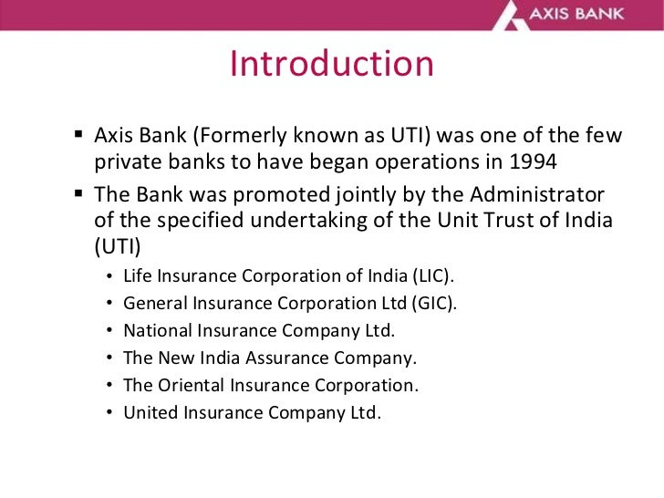 introduction to axis bank