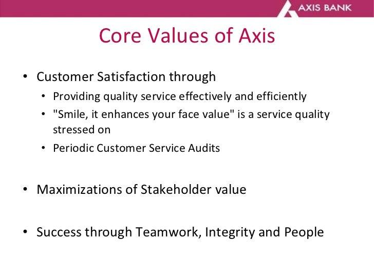 Customer base Axis Bank