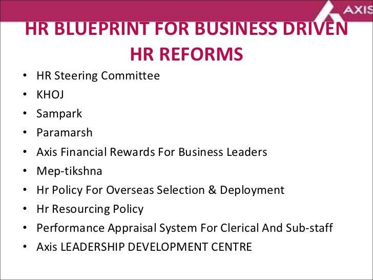 HR BLUEPRINT FOR BUSINESS DRIVEN HR REFORMS <ul><li>HR Steering Committee  </li></ul><ul><li>KHOJ </li></ul><ul><li>Sampar...