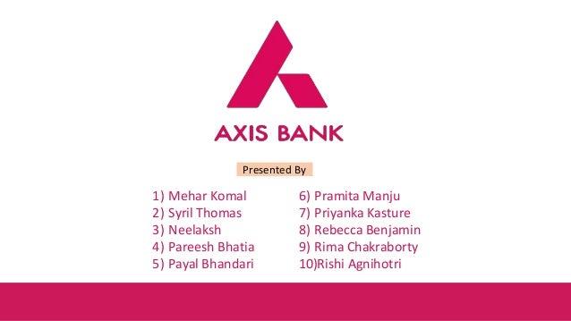 Axis bank  Presentation