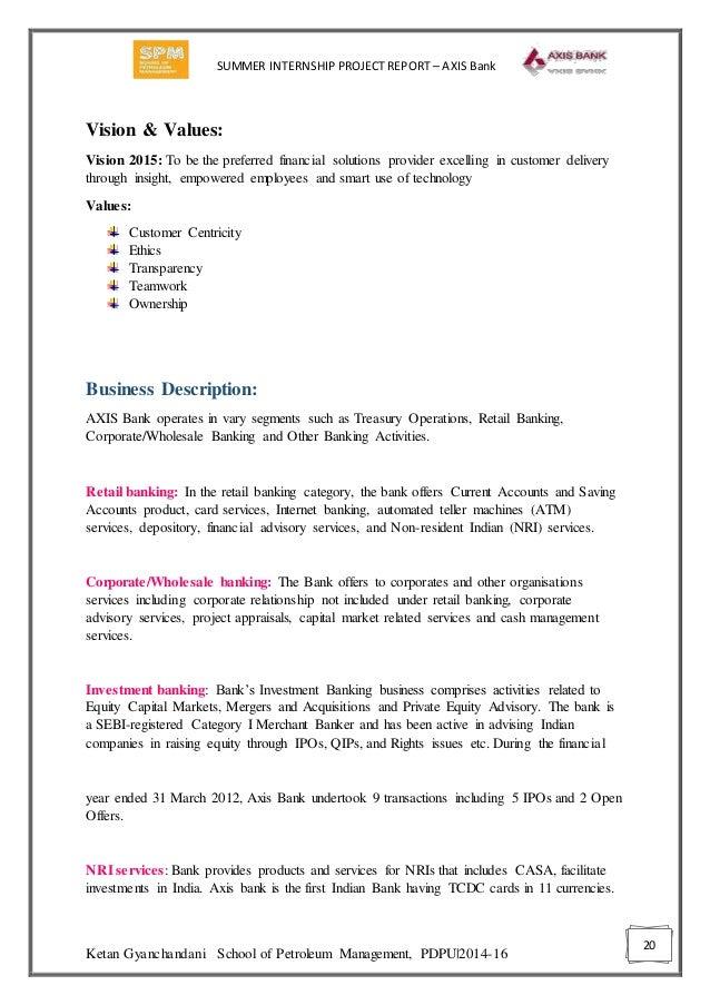 summer internship project on nj india invest