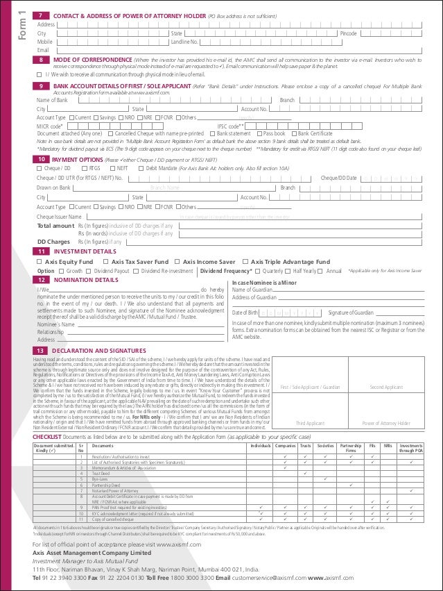 axis bank mutual fund toll free number