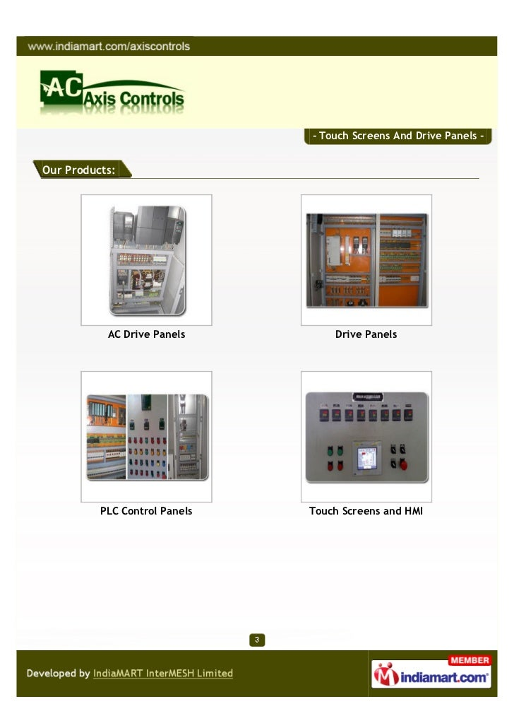 Axis Controls,Dombivli, Maharastra, Touch Screens And Drive Panels Slide 3