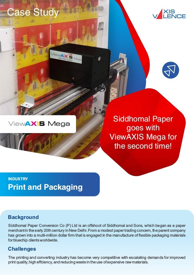 Case Study Siddhomal Paper Conversion Co (P) Ltd is an offshoot of Siddhomal and Sons, which began as a paper merchant in ...