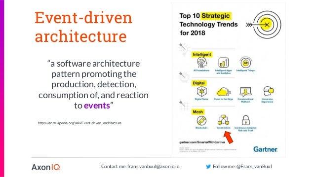 """Contact me: frans.vanbuul@axoniq.io Follow me: @Frans_vanBuul Event-driven architecture """"a software architecture pattern p..."""