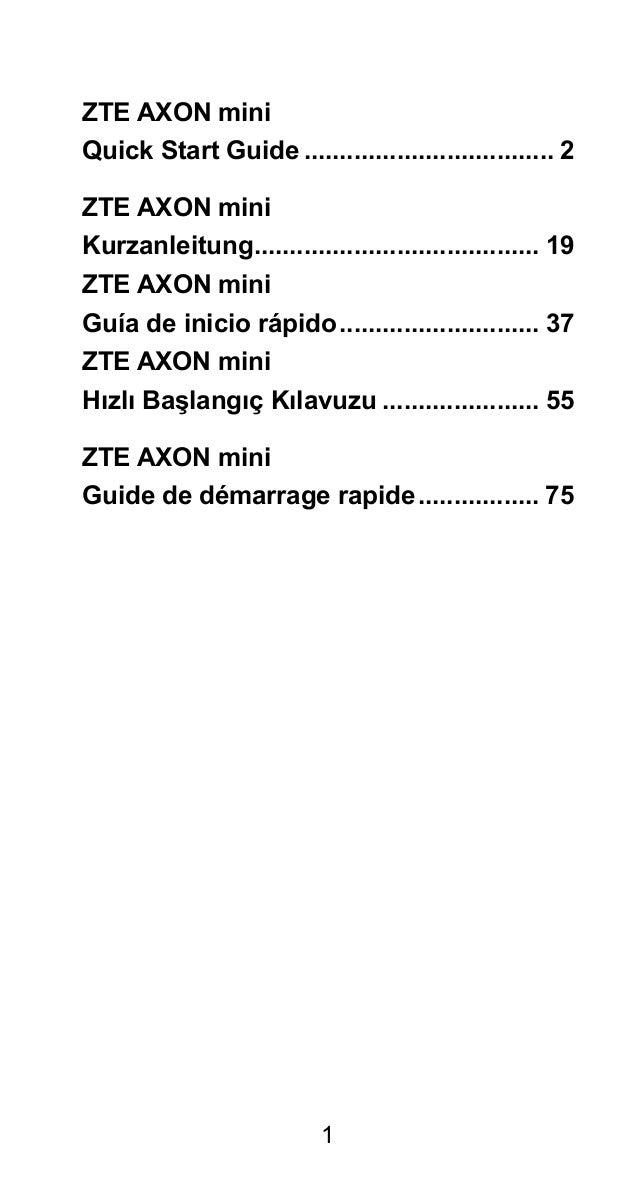ZTE Axon mini Manual / User Guide Slide 3