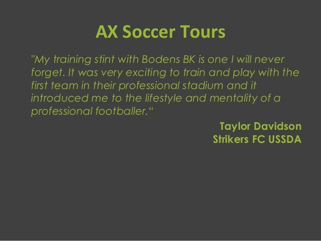 Ax Soccer Tours
