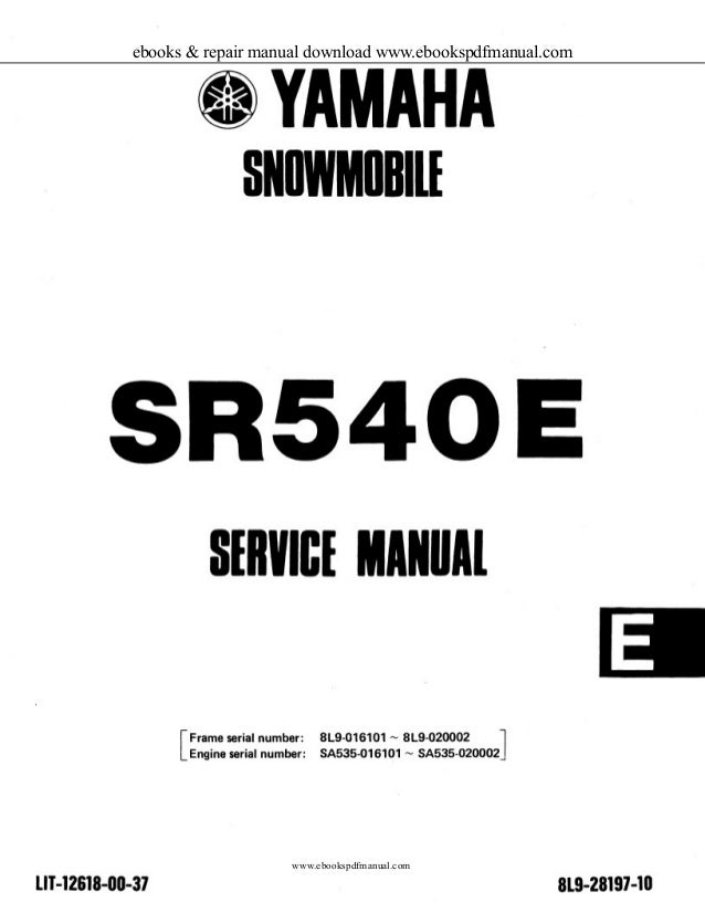 1981 to 1984 yamaha sr 540 G/H snownobile service manual