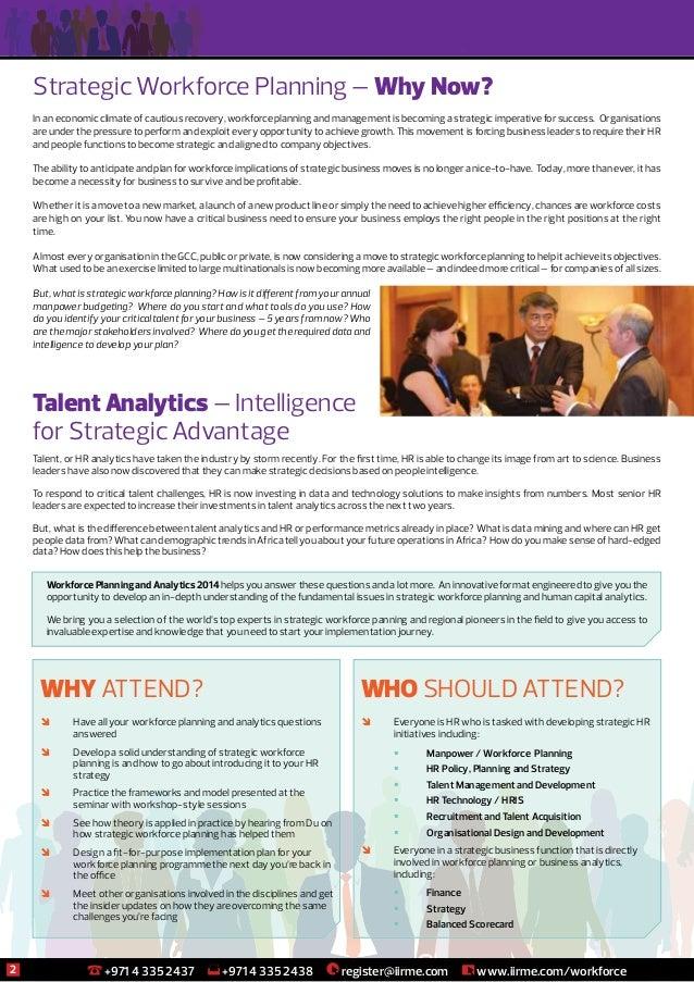 Middle East Workforce Planning and Analytics Seminar, Dubai