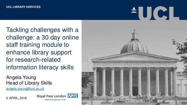 Tackling challenges with a challenge: a 30 day online staff training module to enhance library support for research-relate...