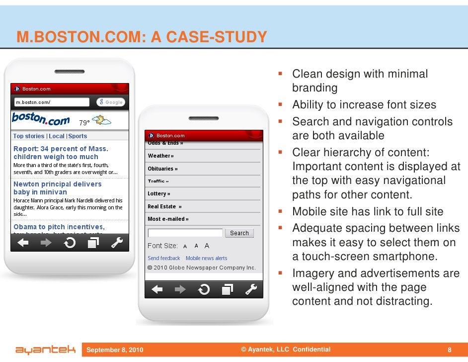 M.BOSTON.COM: A CASE-STUDY                                            Clean design with minimal                           ...