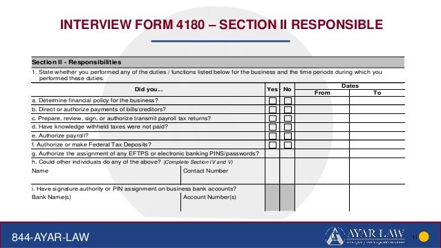 form 4180 Ayar law-Delinquent business tax collections MICPA