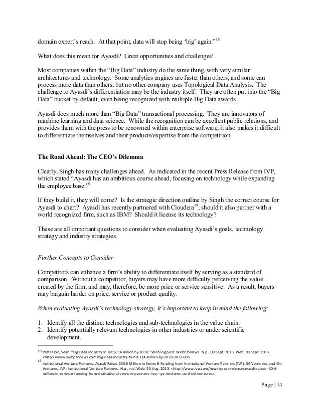 Ayasdi Case Study