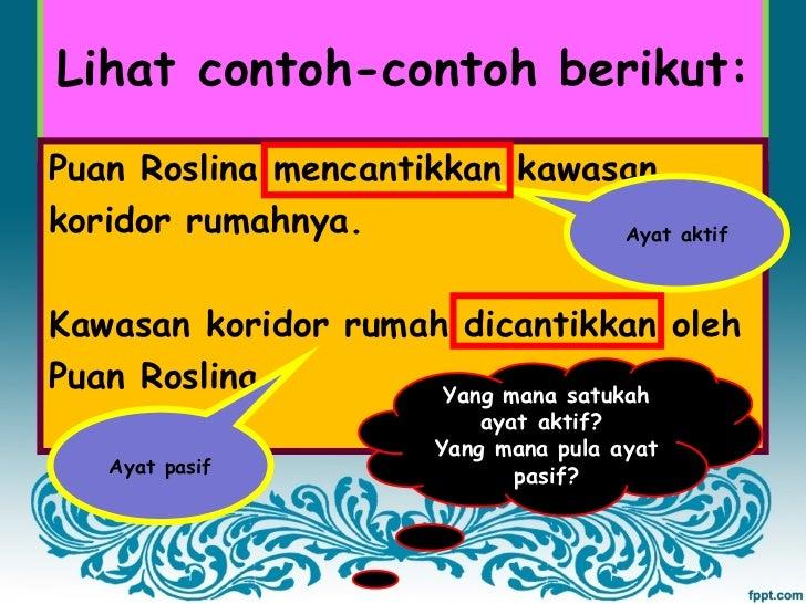 Bahasa Malaysia Tahun 5 Ayat Aktif Dan Ayat Pasif